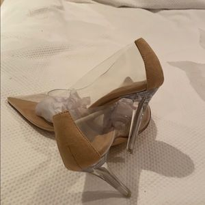 BRAND NEW CLEAR HEELS